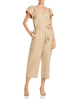 Rebecca Minkoff - Zina Cropped Linen & Cotton Jumpsuit