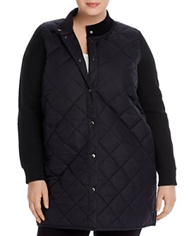 Eileen Fisher Plus - Parka-Sweater Combo Coat