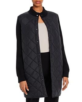 Eileen Fisher - Parka-Sweater Combo Coat