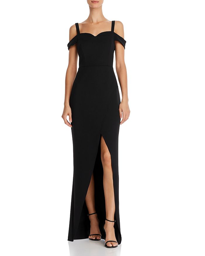 BCBGMAXAZRIA - Cold-Shoulder Gown