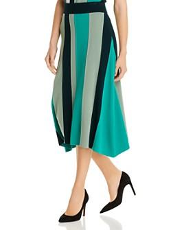 BOSS - Faeve Striped Sweater-Knit Midi Skirt