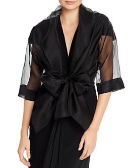 PAULE KA - Silk Organza Wrap Top