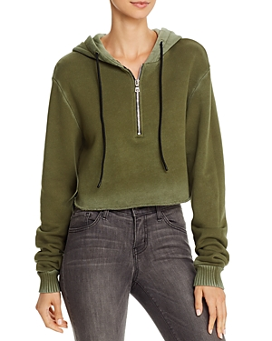 Cotton Citizen BROOKLYN CROPPED HOODED SWEATSHIRT