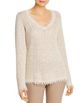 NIC and ZOE - Fringe-Trim V-Neck Sweater