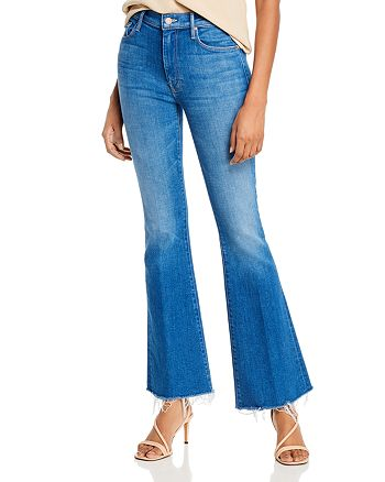 MOTHER - The Weekender Fray Flare Jeans in Double Vision