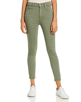 7 For All Mankind - High Rise Ankle Skinny Jeans