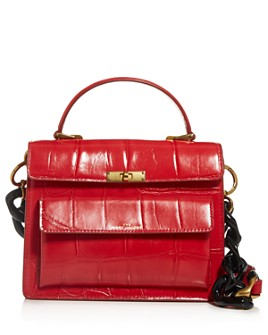 MARC JACOBS - The Uptown Croc-Embossed Leather Satchel