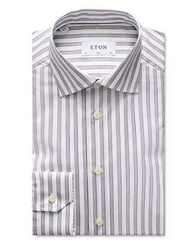 Eton - Slim Fit Striped Natural Stretch Dress Shirt