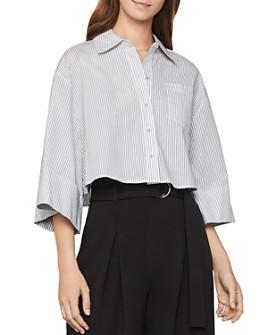 BCBGMAXAZRIA - Cropped Striped Shirt