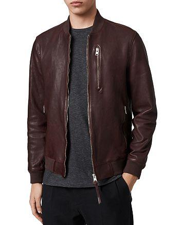 ALLSAINTS - Mason Leather Bomber Jacket