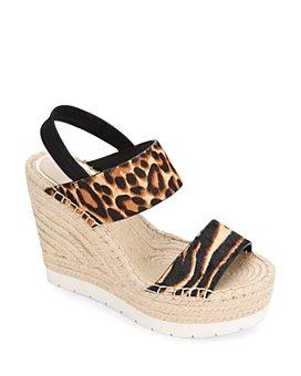 Kenneth Cole - Women's Olivia Animal-Print Espadrille Platform Sandals