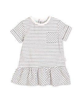 Miles Baby - Girls' Striped Short Sleeve Dress - Baby