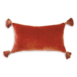 Peri Home Velvet Tassles Decorative Pillow, 12 x 20