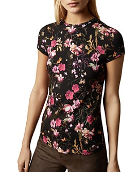 Ted Baker - Calba Fern-Forest-Print Fitted Tee