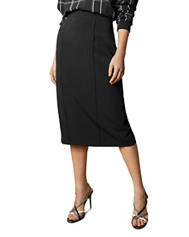 Ted Baker - Raees Pintuck-Detail Pencil Skirt