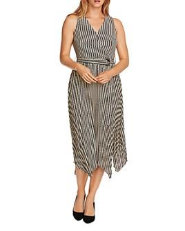 VINCE CAMUTO - Geo Decor Handkerchief Midi Dress