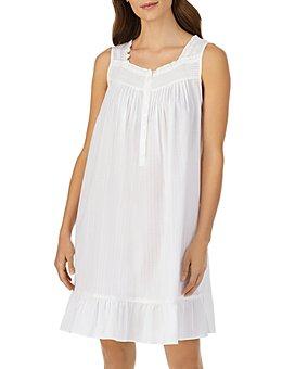 Eileen West - Striped Sleeveless Short Gown