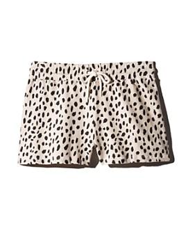 Monrow - Cheetah Print Drawstring Shorts