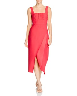 C/MEO Collective - Over Again Asymmetrical Sheath Dress
