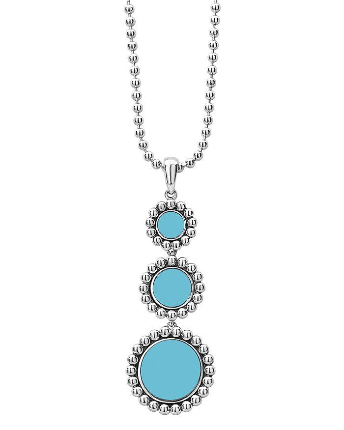 "LAGOS - Sterling Silver Maya Ceramic Pendant Necklace, 18"""