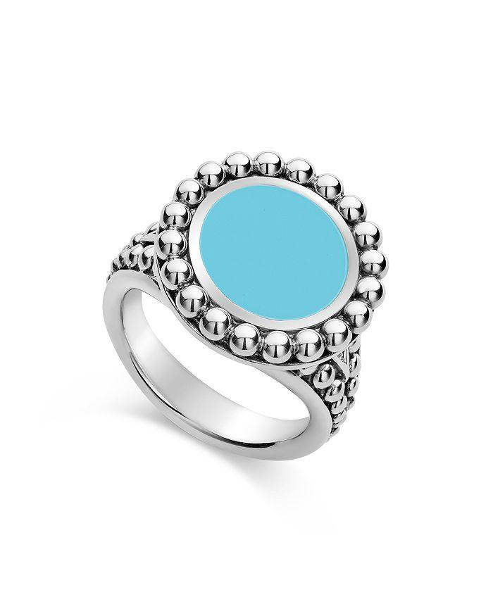 LAGOS - Sterling Silver Maya Ceramic Ring