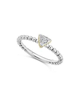 LAGOS - 18K Yellow Gold & Sterling Silver KSL Diamond Ring