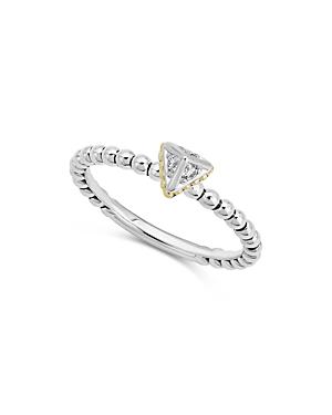 Lagos 18K Yellow Gold & Sterling Silver Ksl Diamond Ring