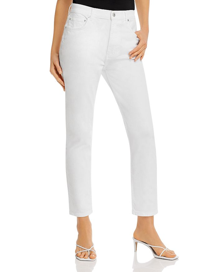 AQUA - High-Rise Skinny Jeans in White - 100% Exclusive