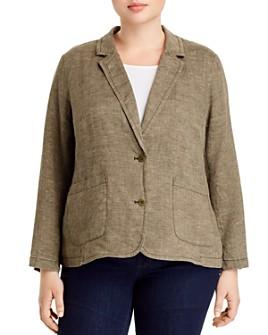 Eileen Fisher Plus - Organic Linen Two-Button Blazer