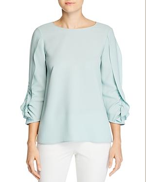 Lafayette 148 New York Perrin Ruched-Sleeve Top-Women