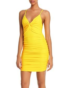 Tiger Mist - Gabby Twist-Front Mini Dress