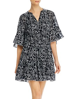 Parker - Floral-Print A-Line Cotton Mini Dress