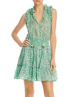 Poupette St. Barth - Sleeveless Mini Peasant Dress