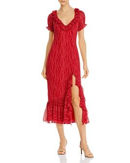 Cinq à Sept - Ruffled Floral-Print Midi Dress