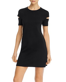 Helmut Lang - Ribbed Cutout Mini Dress