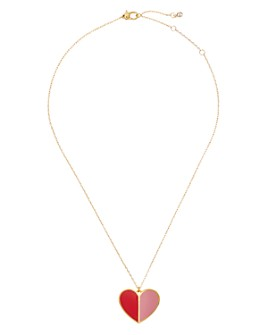 "kate spade new york - Heritage Spade Enamel Heart Pendant Necklace, 16"""