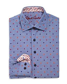Robert Graham - Boys' Prichard Squares Printed Shirt - Big Kid