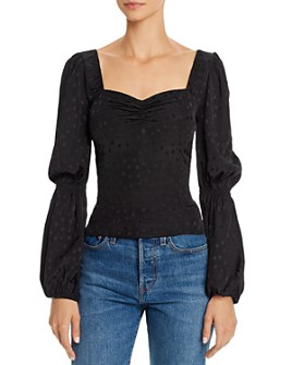 WAYF - Rowina Balloon-Sleeve Top