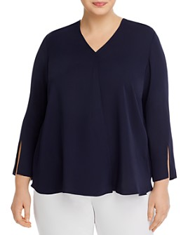 NIC and ZOE Plus - Slit-Sleeve Top