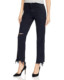 J Brand - Jules High-Rise Ankle Straight Jeans in Undercover Destruct