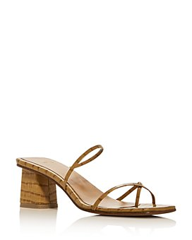 LoQ - Women's Manola Croc-Embossed Strappy Sandals