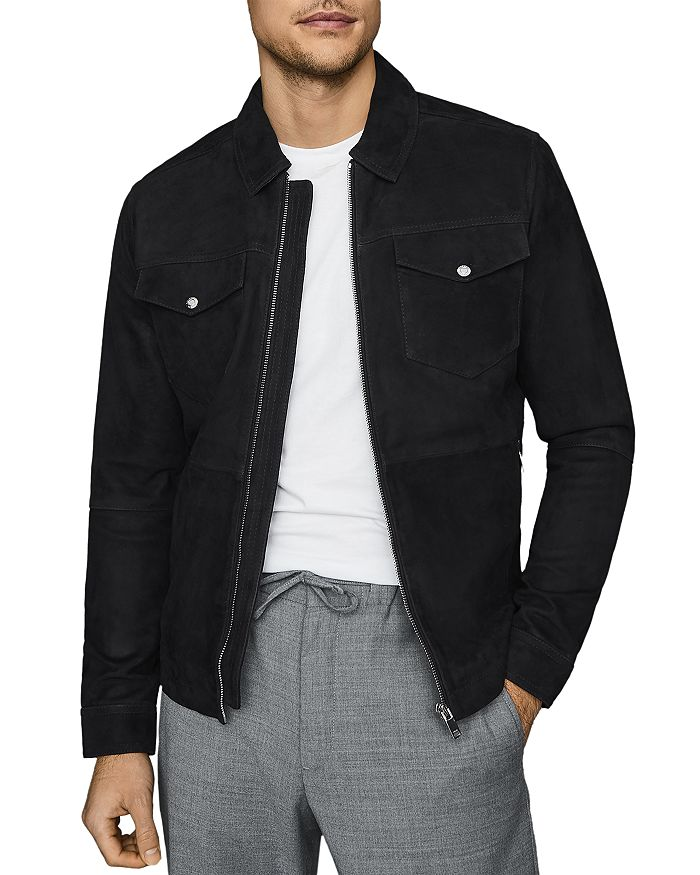 REISS - Cash Suede Zip Jacket
