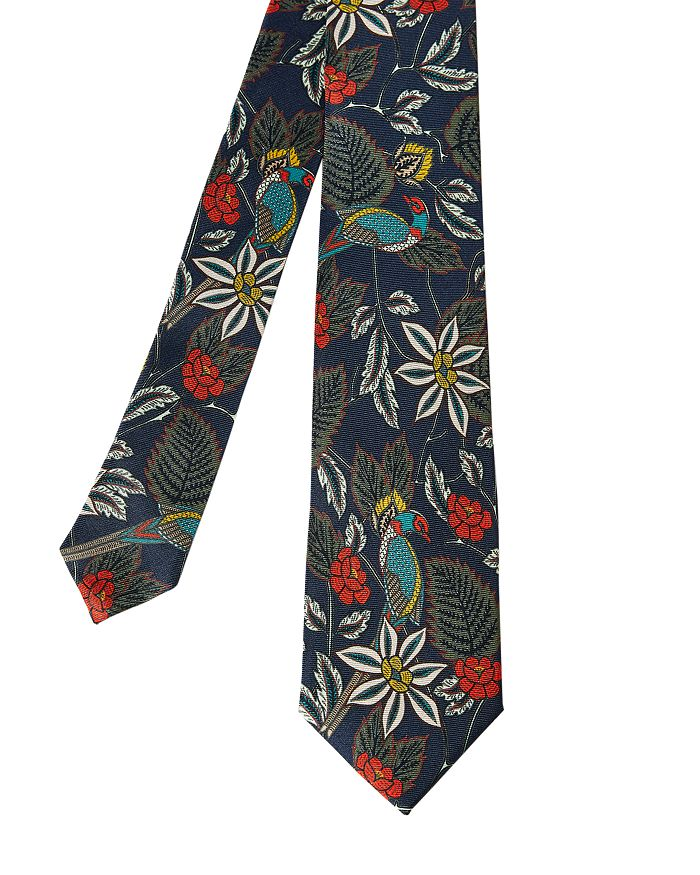 Ted Baker - Silk Floral & Bird Print Skinny Tie