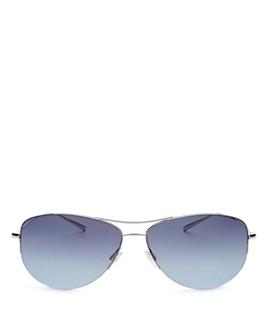 Oliver Peoples - Men's Strummer Brow Bar Aviator Sunglasses, 63mm