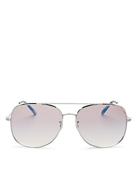 Oliver Peoples - Unisex Taron Brow Bar Aviator Sunglasses, 58mm