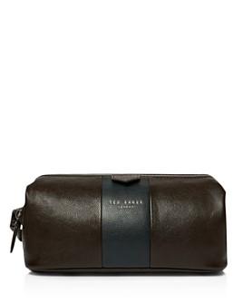 Ted Baker - Watchar Striped Leather Washbag
