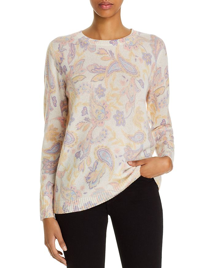 C by Bloomingdale's - Cashmere Paisley-Print Sweater - 100% Exclusive