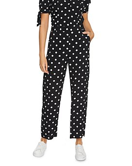 1.STATE - Dot-Print Ankle Pants