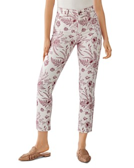 DL1961 - Mara High-Rise Floral Print Straight Jeans in Botanical