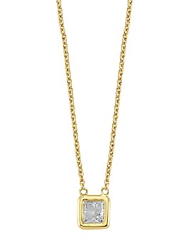 OWN YOUR STORY - 14K Yellow Gold Geometry Princess Diamond Pendant Necklace